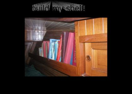 no matter what, you're gonna build my shelf!