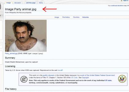 Wikipedia wants to party with Khalid Shaikh Mohammed