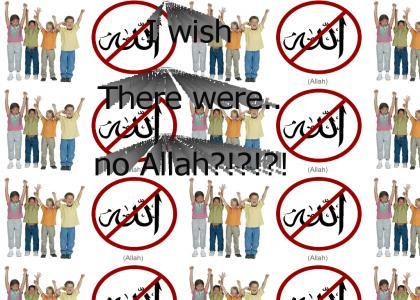 I wish there were no Allah...