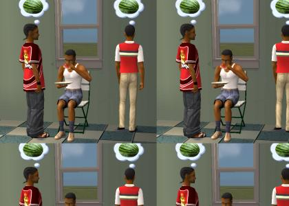 Sims How to Eat a Watermelon