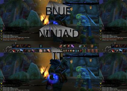 BLUE NINJA'D IT