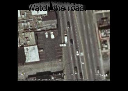 Google Earth Catches Car Crash