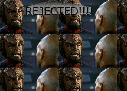 Worf Rejects Picard.