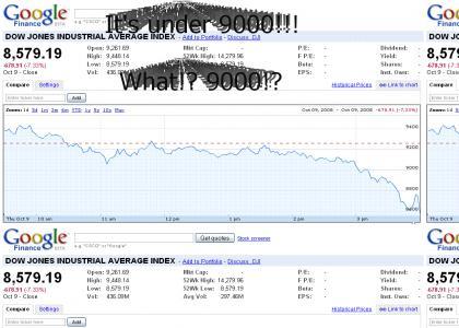 Dow Jones - Under 9000!!!