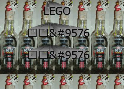 LEGO Robot in a Bottle