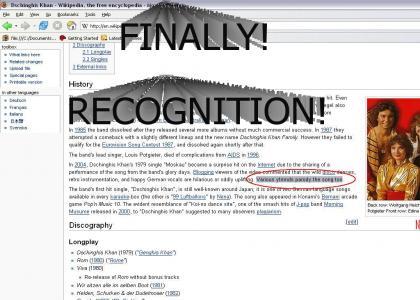 Dschinghis Khan Recognition! *liek update*