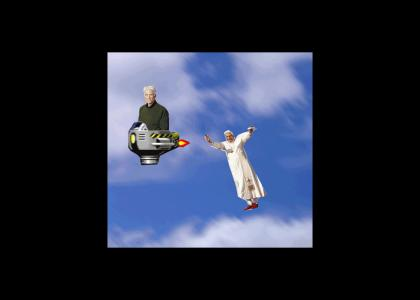 The Pope Races God to Heaven