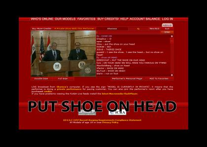Put Shoe on Bush's Head!