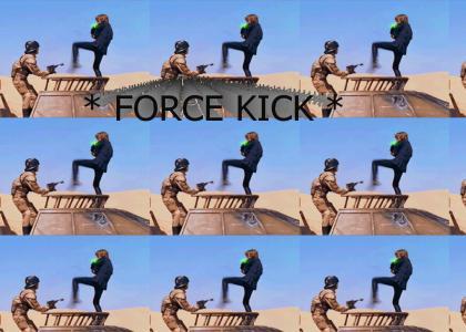 LUKE FORCE KICK! (STAR WARS)