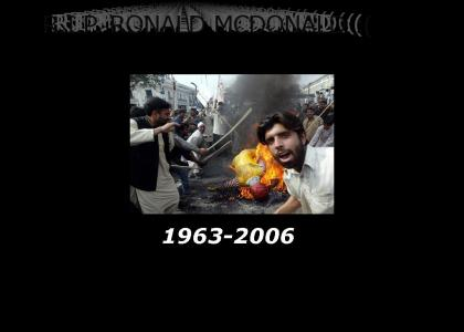 TRIBUTE TO RONALD MCDONALD