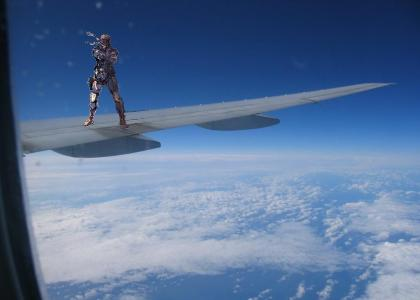 Solid Snake's on a Plane