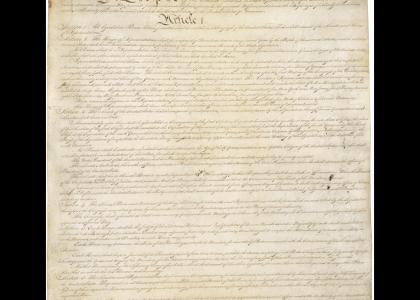 A dramatic reading of the US Constitution…