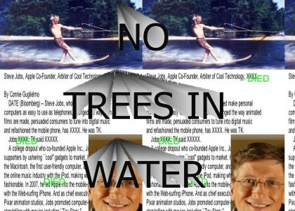 NO TREES IN WATER