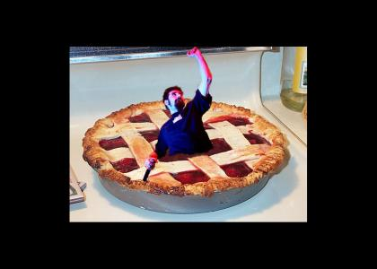Just a man in a pie!!!