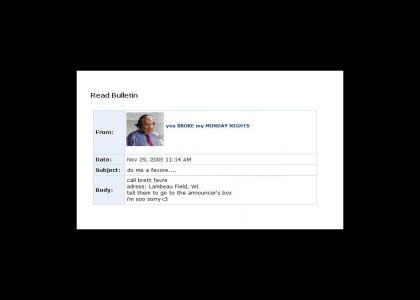 John Madden Myspace suicide!