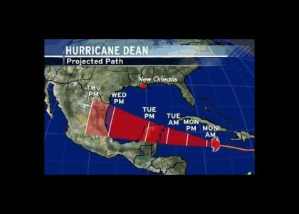 Hurricane Dean's got other plans...