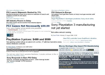 More Sony PS3 Bad News (updated 10/08/08)
