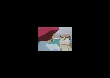 Jessie stares into Meowth's soul