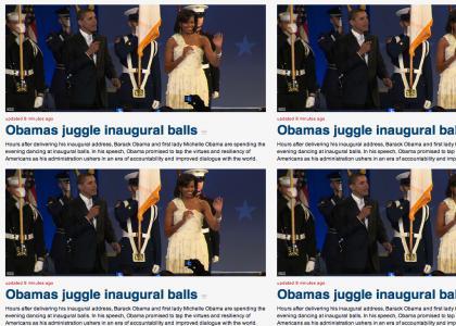 Obama's Juggle Inaugural Balls