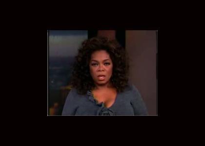 Oprah Stares Into.....Something