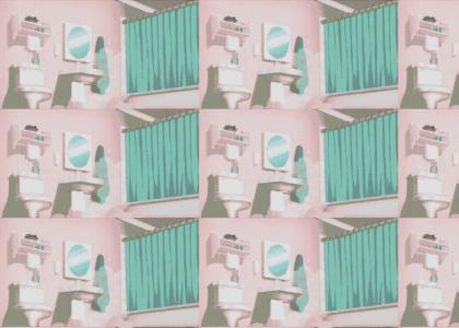 Rod Stewart in the shower.