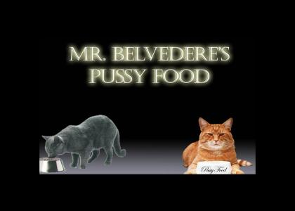 Mr. Belvedere's Pussy Food Ad