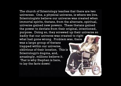 Stephen Hawking Takes On Scientology! (UPDATE)