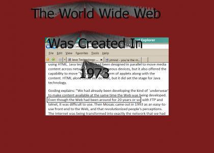 The WorldWideWeb Was Created In 1973