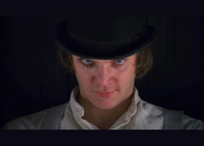 A CLOCKWORK ORANGE - ALEX STARES INTO YOUR SOUL