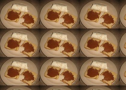 Anon eats breakfast.