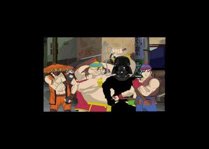 Darth Vader meets South Park Ninjas