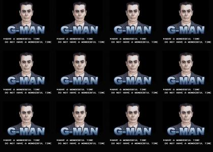 Gman is having an 8-bit time