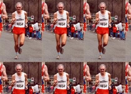 And I run