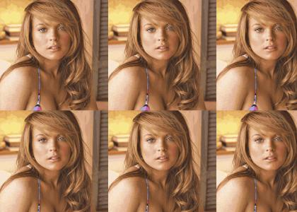 Lindsay Lohan Naked Facial