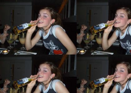 Emma Watson...Getting Crunk?