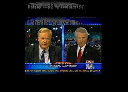 Democratic Senator Zell Miller initiates the challenge