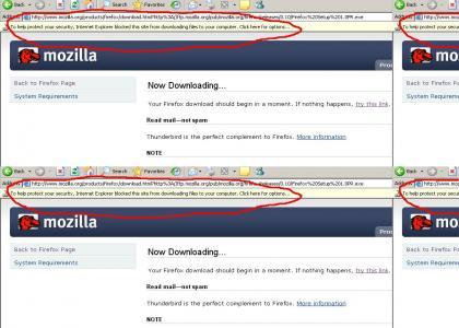Internet Explorer hates Firefox