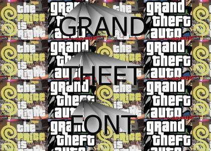 Grand Theft Font