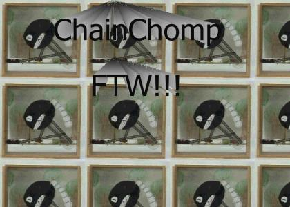 Erector set + paper = mario getting owned by chain chomp