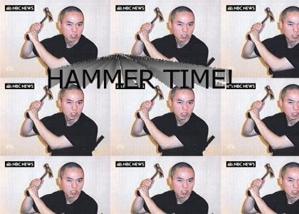 CHO HAS A HAMMER!!