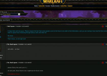 Epic WoW Forum maneuver
