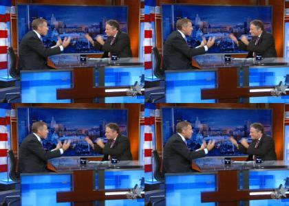 Jon Stewart and Brian Williams Hypno Hands