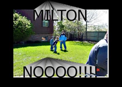 milton in a backyard