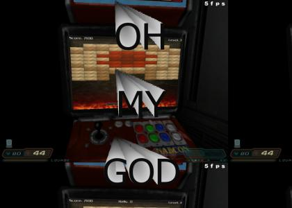 Goatse takes over Doom 3 arcades