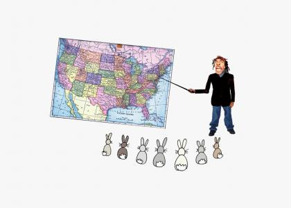 Busta Rhymes Teaches Geography to Rabbits