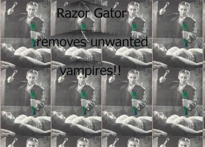 Razor Gator stops Vampires