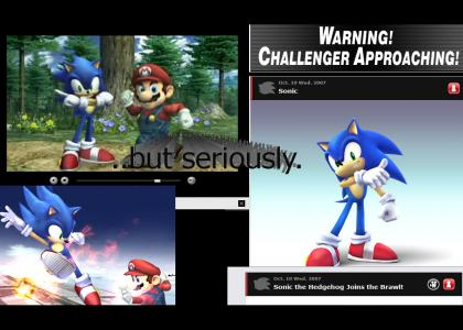 Sonic really IS in Super Smash Bros. Brawl..