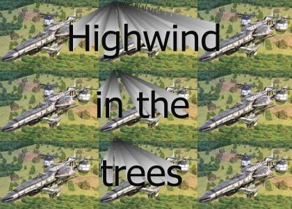Highwind in the trees