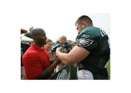 Eagles Players Giving Autographs