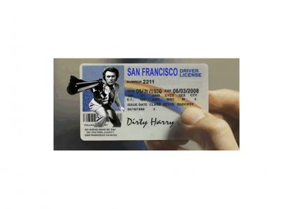 Dirty Harry doesn't really need a new license but...